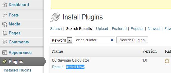 Install new WordPress plugin