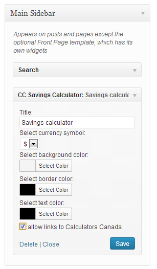 Adjust calculator's settings